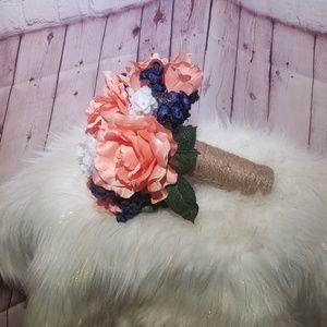 Bridal bouquet silk flowers